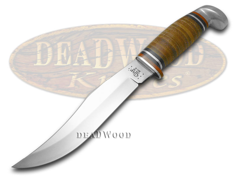 Case XX Polished Leather 6' Fixed Blade Hunter Stainless Knife