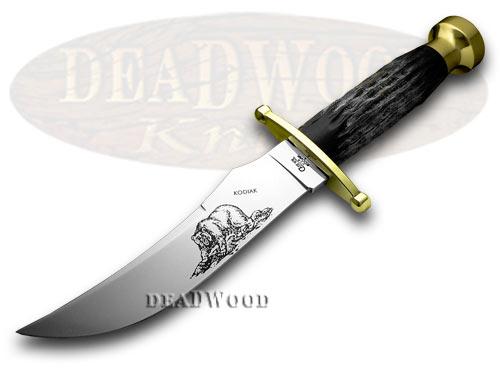 Case XX Kodiak Buffalo Horn Fixed Blade Hunter Knife
