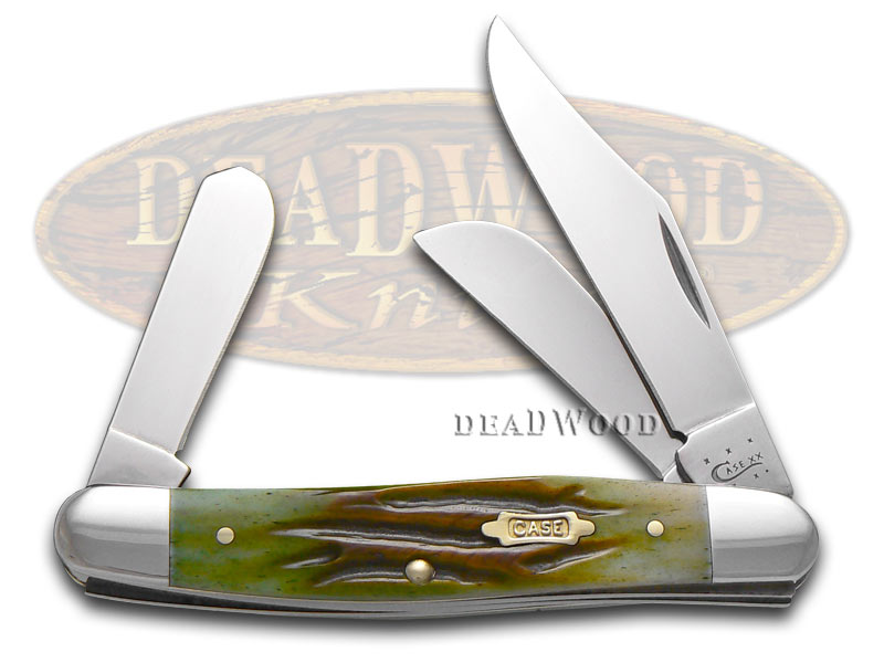 Case XX Worm Groove Moss Brown Medium Stockman Stainless 1/1000 Pocket Knife Knives