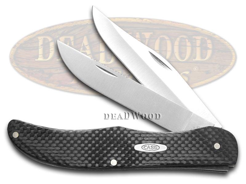 Case XX Black Carbon Fiber Folding Hunter Stainless Pocket Knife Knives