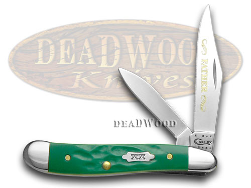 Case XX Rough Green Father 1/500 Peanut Pocket Knife Knives