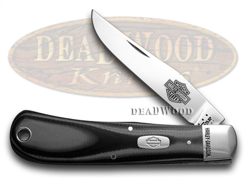 Case XX Harley Davidson� Motorcycles Black and Silver G-10 Backpocket Pocket Knife