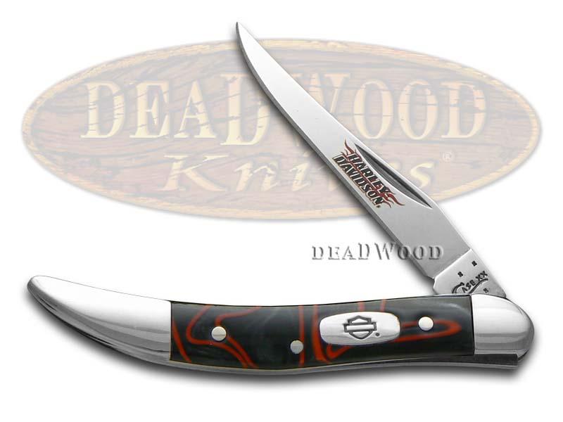 Case XX Harley-Davidson Black Lava Kirinite Toothpick Stainless Pocket Knife