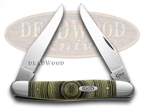 Case XX Yellow Delrin Tree Ring Muskrat Pocket Knife Knives CV