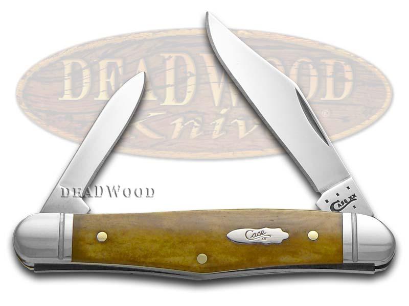 Case XX Smooth Antique Bone Half Whittler Stainless Pocket Knife