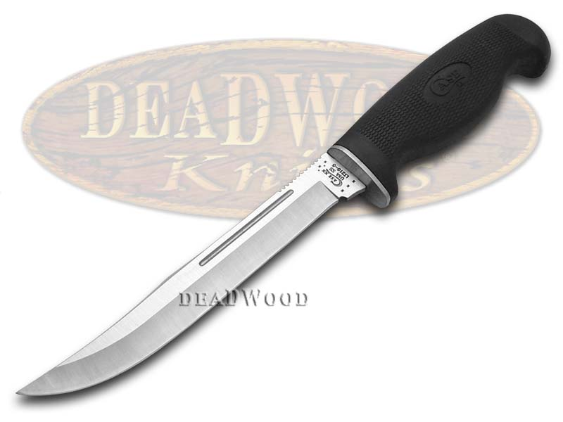 Case XX Lightweight Black Synthetic Clip Fixed Blade Stainless Knife Knives
