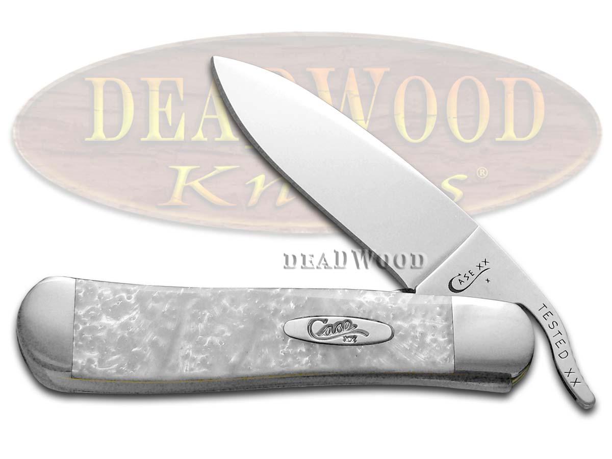 Case XX White Pearl Corelon Russlock Stainless Pocket Knife