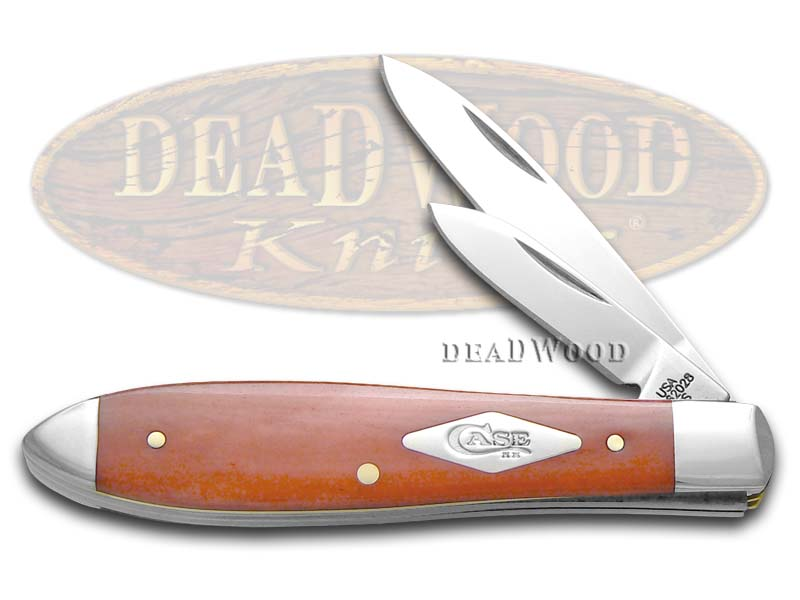 Case XX Painted Desert Salmon Bone Tear Drop Jack 1/500 Stainless Pocket Knife Knives