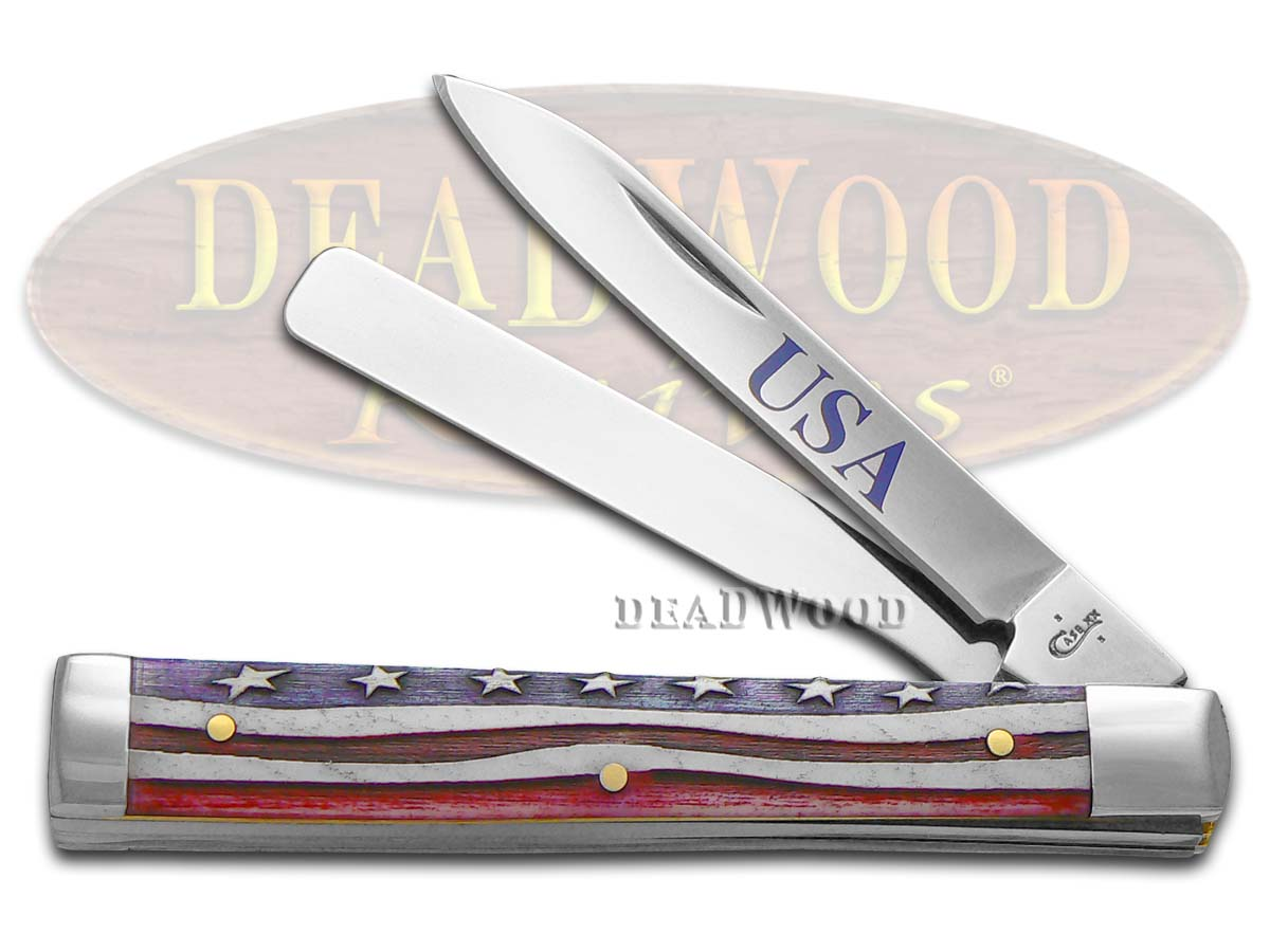 Case XX Star Spangled Natural Bone Doctor Stainless 64128 Pocket Knife