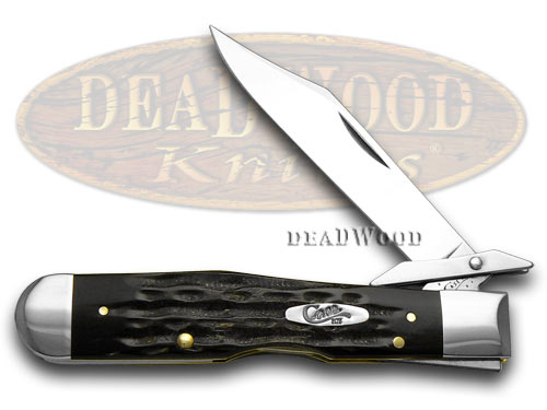 Case XX Jigged Genuine Buffalo Horn Cheetah Pocket Knife