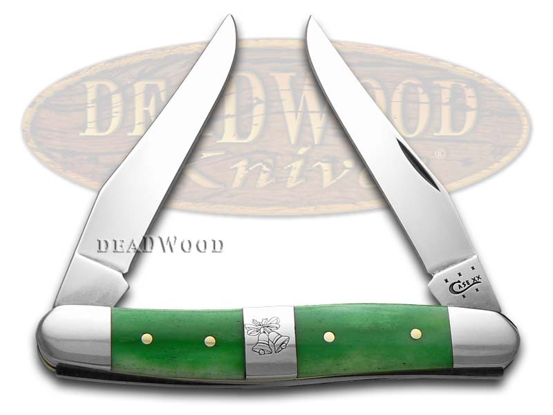 Case XX Christmas Bright Green Bone Muskrat Stainless Pocket Knife Knives