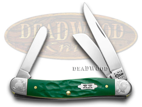 Case XX Rough Green 1/500 Scrolled Stockman Pocket Knife Knives