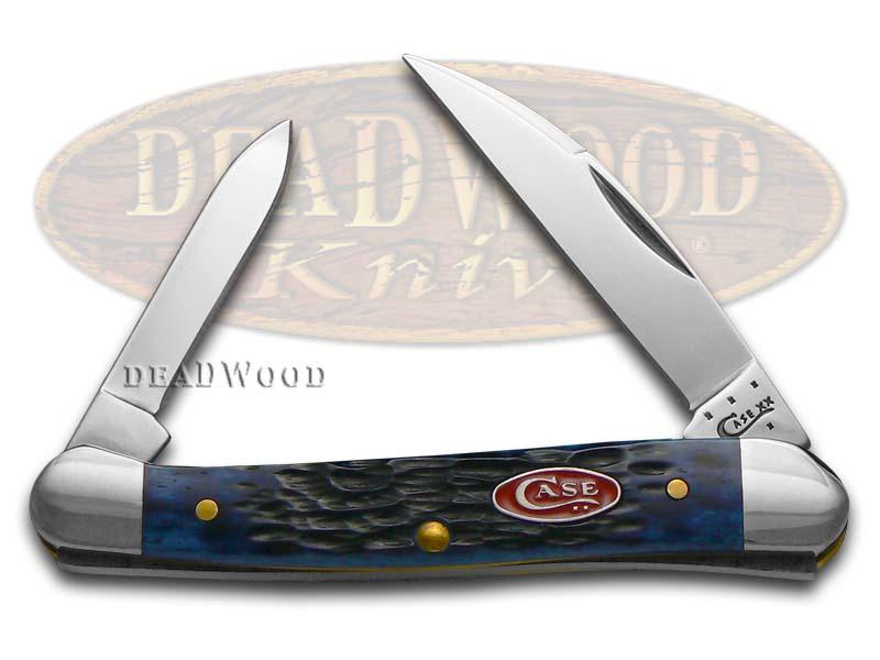 Case XX Jigged Navy Blue Bone Mini Copperhead Stainless Pocket Knife