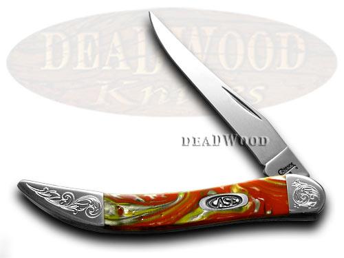 Case XX Engraved Bolster Series Genuine Fire Box Corelon Toothpick Pocket Knife