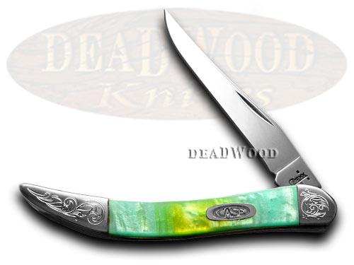 Case XX Engraved Bolster Series Genuine Rainbow Corelon Toothpick Pocket Knives