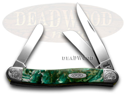 Case XX Engraved Bolster Series Genuine Cloud Land Corelon Stockman Pocket Knife