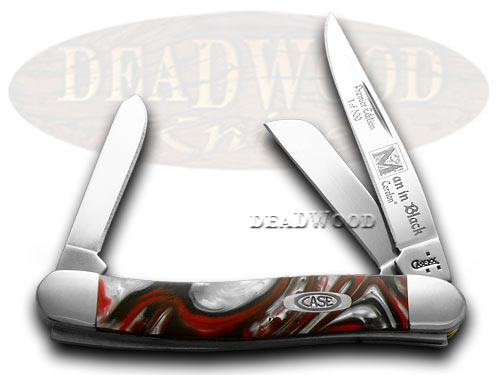 Case XX Genuine Man In Black Corelon 1/500 Stockman Pocket Knife