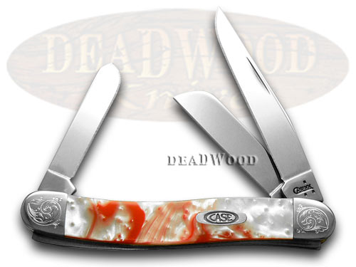 Case XX Engraved Bolster Series Peppermint Corelon Stockman Pocket Knives