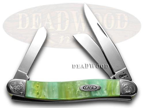 Case XX Engraved Bolster Series Genuine Rainbow Corelon Stockman Pocket Knives