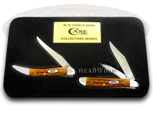 Case XX Mother/Daughter Harvest Orange Peanut Toothpick 1/500 Pocket Knife Knives