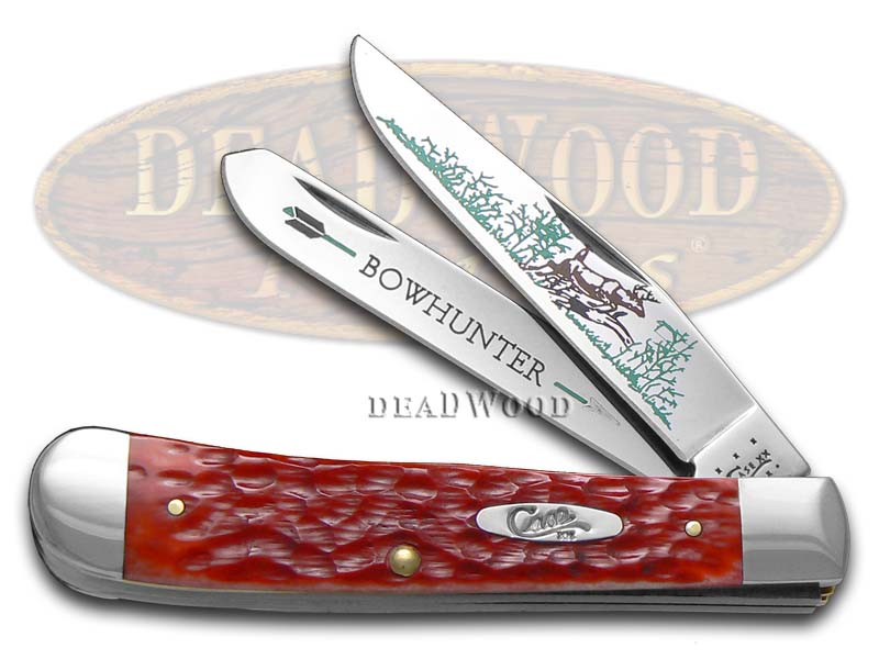 Case XX Bow Hunter Red Bone Trapper 1/600 Stainless Pocket Knife Knives