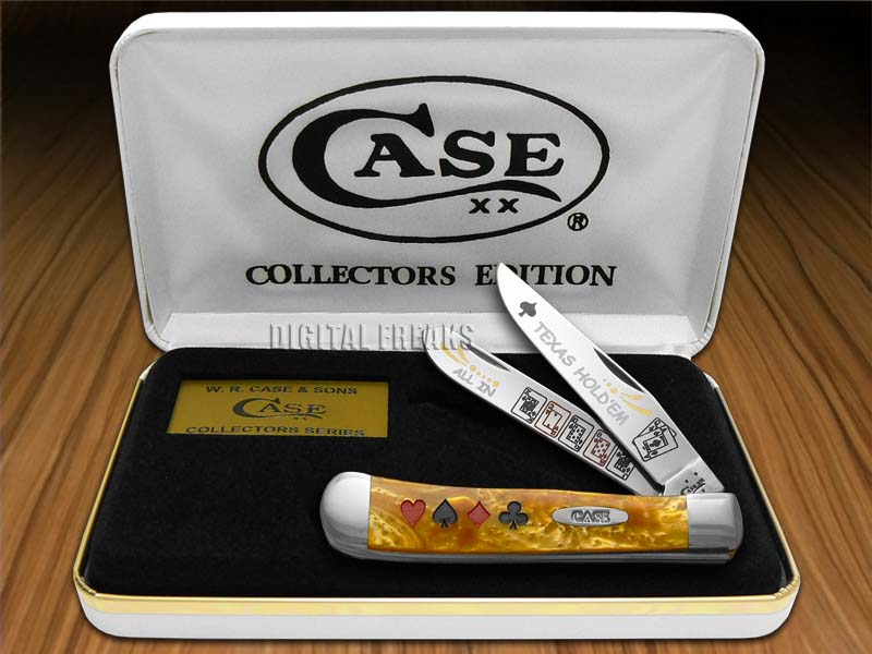 CASE XX Collector's Edition Antique Gold Texas HoldEm 1/600 Trapper Pocket Knife