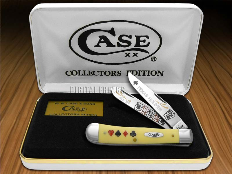 CASE XX TEXAS HOLDEM Yellow Trapper Knives Knife
