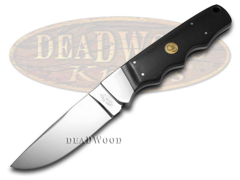 Canal Street Black Micarta Fixed Blade Hunter 440C Stainless Knife Knives