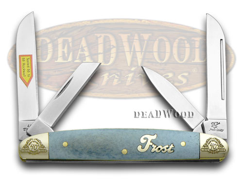 Frost Family 40th Anniversary Blue Smooth Bone 1/600 Congress Pocket Knife