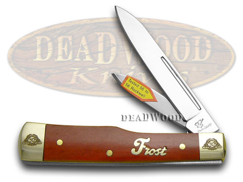 Frost Family 40th Anniversary Dark Red Smooth Bone 1/600 Gunstock Pocket Knife Knives