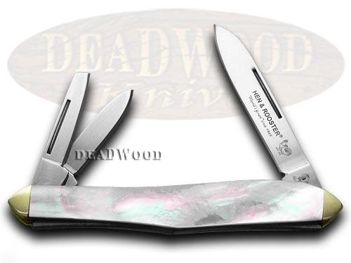 Hen & Rooster Mother of Pearl Whittler Pocket Knife Knives