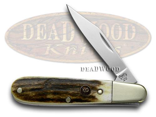 Hen & Rooster Genuine Deer Stag Barlow Pocket Knife Knives