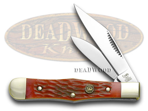 Hen & Rooster Red Pickbone Mini Coke Bottle Pocket Knife Knives