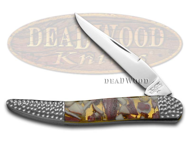 Schatt & Morgan Deer Stag & Clear Resin Toothpick Stainless Pocket Knife