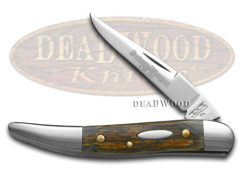 Schatt & Morgan Genuine Mammoth Fossil Toothpick 1/100 Stainless Pocket Knife Knives