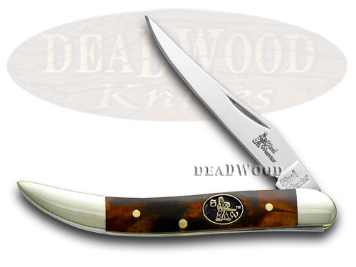Steel Warrior Imitation Tortoise Shell Toothpick Pocket Knife Knives