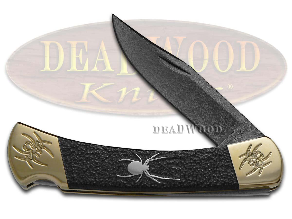 Buck 110 David Yellowhorse Spider Folding Hunter 1/25 Native Steel Custom Knife