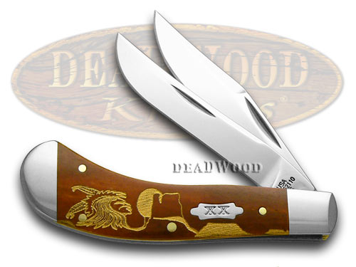 Case XX Yellowhorse Early Morning Singer Chestnut Bone 1/500 Saddlehorn Pocket Knife Knives